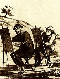 Honoré Daumier - I falsi nel'arte