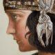 Analisi di un dipinto realizzato con metodi tradizionali, tratto da una fotografia del 1920, di Gloria Swanson.